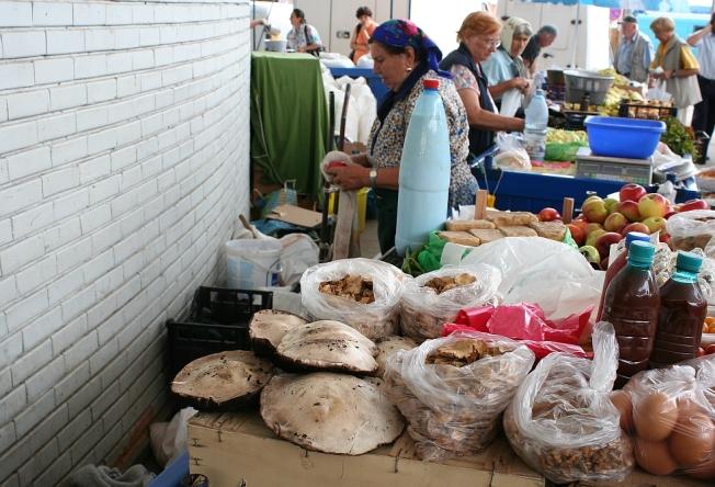 La piata - ciuperci / Mushrooms in the marketplace