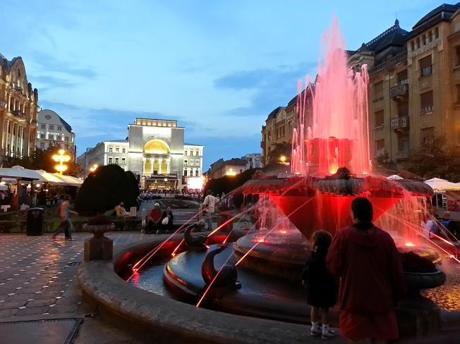 La Pesti in Piata Operei / Downtown Timisoara by night