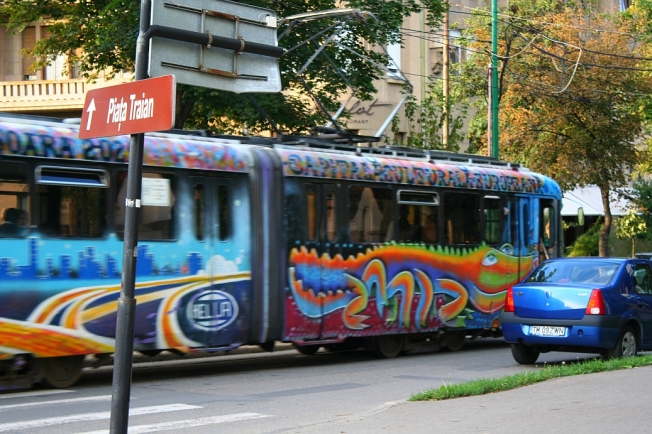 Tramvai hipiot in Timisoara / Hippy tram in Timisoara, Romania