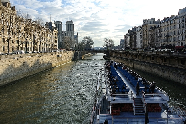 Boat ride to Notre Dame Cathedral
