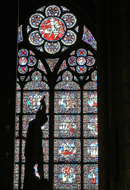 Mesmerized by stained glass wonders inside the Notre Dame