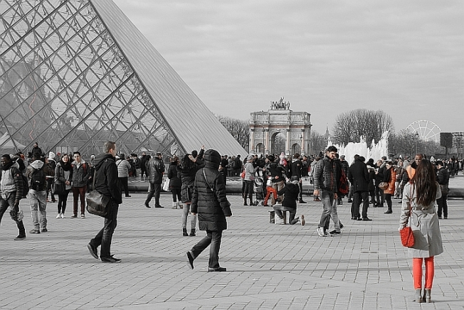 Louvre - The glass pyramids