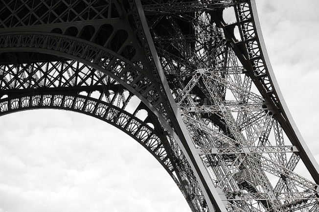 The Eiffel Tower - intricate iron embroidery