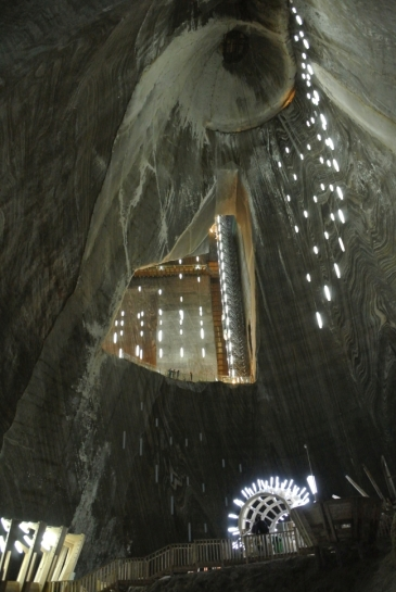Turda Salt mines (from water level)