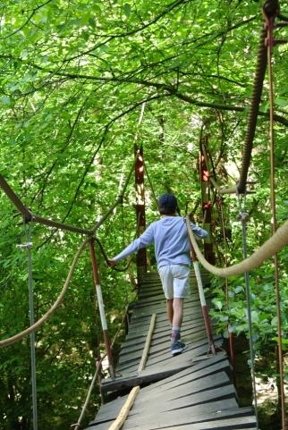 Suspended bridge in Turda Gorges
